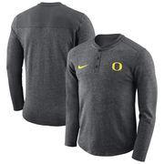 Oregon Ducks Nike Henley Long Sleeve T-Shirt - Charcoal
