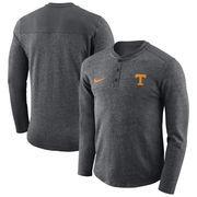 Tennessee Volunteers Nike Henley Long Sleeve T-Shirt - Heathered Charcoal