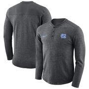 North Carolina Tar Heels Nike Henley Long Sleeve T-Shirt - Heathered Charcoal