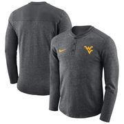 West Virginia Mountaineers Nike Henley Long Sleeve T-Shirt - Charcoal