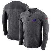 Buffalo Bills Nike Seasonal Henley Long Sleeve T-Shirt - Charcoal