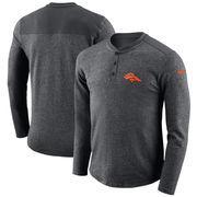 Denver Broncos Nike Seasonal Henley Long Sleeve T-Shirt - Charcoal
