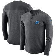 Detroit Lions Nike Seasonal Henley Long Sleeve T-Shirt - Charcoal