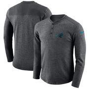 Carolina Panthers Nike Seasonal Henley Long Sleeve T-Shirt - Charcoal