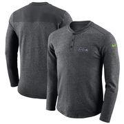 Seattle Seahawks Nike Seasonal Henley Long Sleeve T-Shirt - Charcoal