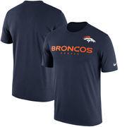 Denver Broncos Nike Sideline Legend Team Performance T-Shirt - Navy