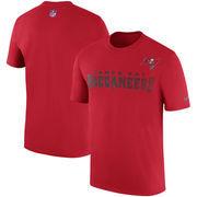 Tampa Bay Buccaneers Nike Sideline Legend Team Performance T-Shirt - Red