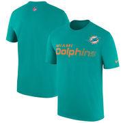 Miami Dolphins Nike Sideline Legend Team Performance T-Shirt - Aqua