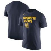 Marquette Golden Eagles Jordan Brand Basketball Infinity Hoops Performance T-Shirt - Navy