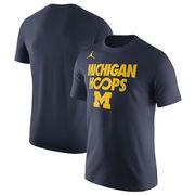 Michigan Wolverines Jordan Brand Basketball Infinity Hoops Performance T-Shirt - Navy