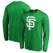 San Francisco Giants Fanatics Branded St. Patrick's Day White Logo Long Sleeve T-Shirt - Kelly Green