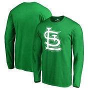 St. Louis Cardinals Fanatics Branded St. Patrick's Day White Logo Long Sleeve T-Shirt - Kelly Green