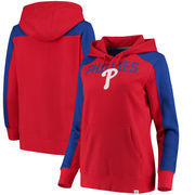 Philadelphia Phillies Fanatics Branded Women's Iconic Pullover Hoodie - Red/Royal