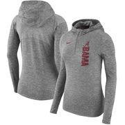 Alabama Crimson Tide Nike Women's Dry Element Performance Quarter-Zip Pullover Hoodie - Heathered Charcoal