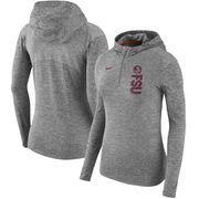 Florida State Seminoles Nike Women's Dry Element Performance Quarter-Zip Pullover Hoodie - Heathered Charcoal