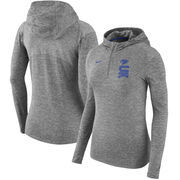 Kentucky Wildcats Nike Women's Dry Element Performance Quarter-Zip Pullover Hoodie - Heathered Charcoal
