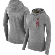 USC Trojans Nike Women's Dry Element Performance Quarter-Zip Pullover Hoodie - Heathered Charcoal