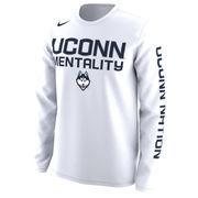 UConn Huskies Nike Basketball Mentality Bench Legend Performance Long Sleeve T-Shirt - White