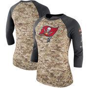 Tampa Bay Buccaneers Nike Women's Salute to Service Legend Three-Quarter Raglan Sleeve Performance T-Shirt - Camo/Charcoal