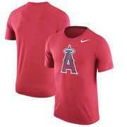 Los Angeles Angels Nike Tri-Blend T-Shirt - Heathered Red