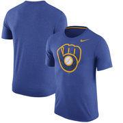 Milwaukee Brewers Nike Tri-Blend T-Shirt - Heathered Royal