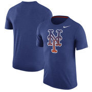 New York Mets Nike Tri-Blend T-Shirt - Heathered Royal