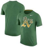 Oakland Athletics Nike Tri-Blend T-Shirt - Heathered Green