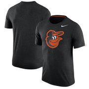 Baltimore Orioles Nike Tri-Blend T-Shirt - Heathered Black