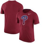 Philadelphia Phillies Nike Tri-Blend T-Shirt - Heathered Red