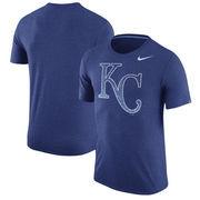 Kansas City Royals Nike Tri-Blend T-Shirt - Heathered Royal