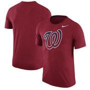 Washington Nationals Nike Tri-Blend T-Shirt - Heathered Red