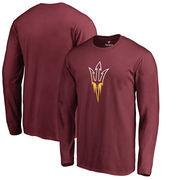 Arizona State Sun Devils Fanatics Branded Gradient Logo Long Sleeve T-Shirt - Maroon