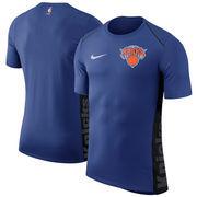 New York Knicks Nike Elite Shooter Performance T-Shirt – Blue