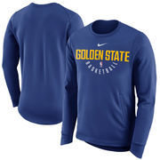 Golden State Warriors Nike Practice Fleece Performance Sweatshirt – Royal