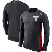 Chicago Bulls Nike Holiday HyperElite Dry Shooter Statement Edition Long Sleeve T-Shirt - Black