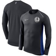 Dallas Mavericks Nike Holiday HyperElite Dry Shooter Statement Edition Long Sleeve T-Shirt - Black