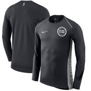 Detroit Pistons Nike Holiday HyperElite Dry Shooter Statement Edition Long Sleeve T-Shirt - Black