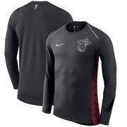 Miami Heat Nike Holiday HyperElite Dry Shooter Statement Edition Long Sleeve T-Shirt - Black