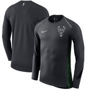 Milwaukee Bucks Nike Holiday HyperElite Dry Shooter Statement Edition Long Sleeve T-Shirt - Black