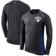 New York Knicks Nike Holiday HyperElite Dry Shooter Statement Edition Long Sleeve T-Shirt - Black