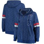 Buffalo Bills Majestic Women's Plus Size Athletic Tradition Team Wordmark Full-Zip Hoodie – Royal