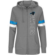 Carolina Panthers Majestic Women's Plus Size Athletic Tradition Team Wordmark Full-Zip Hoodie – Gray