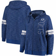 Indianapolis Colts Majestic Women's Plus Size Athletic Tradition Team Wordmark Full-Zip Hoodie – Royal
