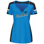 Carolina Panthers Majestic Women's Plus Size Pride Playing V-Notch Neck T-Shirt - Blue