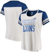 Detroit Lions Majestic Women's Plus Size Scoop Neck T-Shirt - White
