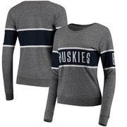 UConn Huskies League Women's Intramural Long Sleeve Tri-Blend T-Shirt - Heathered Gray