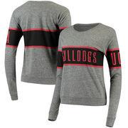 Georgia Bulldogs League Women's Intramural Long Sleeve Tri-Blend T-Shirt - Heathered Gray