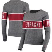 Nebraska Cornhuskers League Women's Intramural Long Sleeve Tri-Blend T-Shirt - Heathered Gray