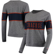 Syracuse Orange League Women's Intramural Long Sleeve Tri-Blend T-Shirt - Heathered Gray