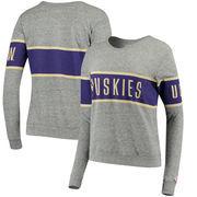 Washington Huskies League Women's Intramural Long Sleeve Tri-Blend T-Shirt - Heathered Gray
